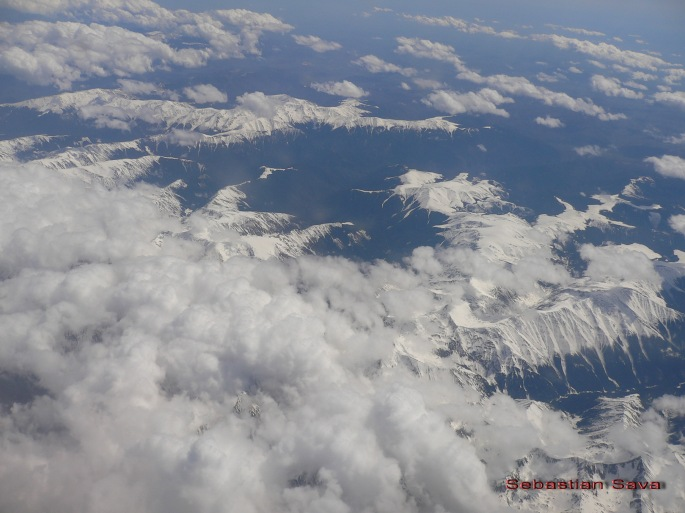 Aerial view of Fagaras Mountains