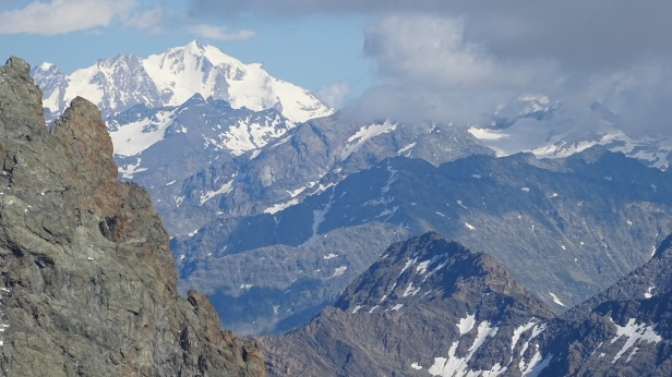 The north face of Gran Paradiso (4061 m alt.) seen from Gonella hut