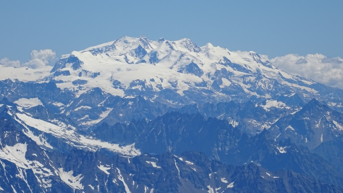 Monte Rosa with its plethora of peaks over 4000 meters